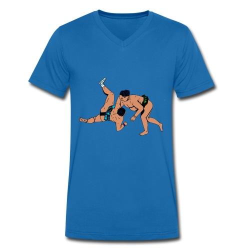 heren T-shirts met sumoworstelaars - Mannen bio T-shirt met V-hals van Stanley & Stella