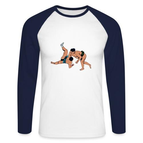 heren shirt met sumoworstelaars - Mannen baseballshirt lange mouw