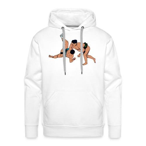 mannensweater met sumoworstelaars - Mannen Premium hoodie