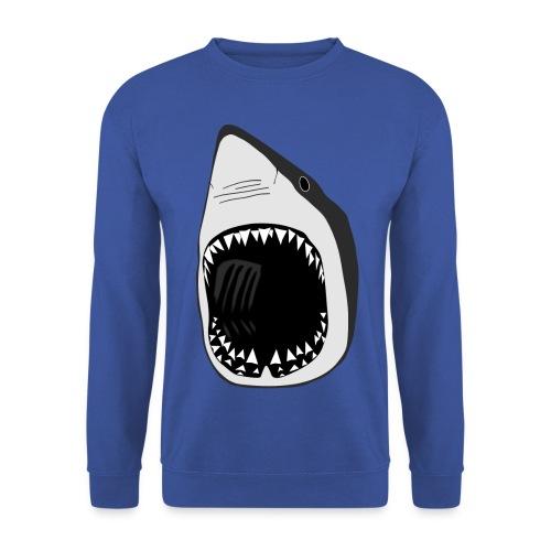 tier t-shirt weisse hai wal shark jaws zähne monster tauchen taucher fisch - Männer Pullover