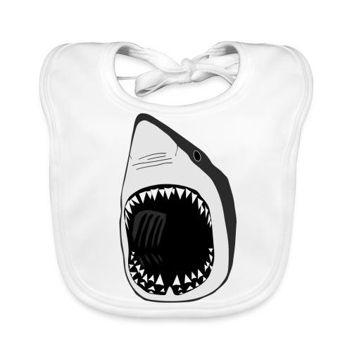 tier t-shirt lätzchen weisse hai wal shark jaws zähne monster tauchen taucher fisch - Baby Bio-Lätzchen