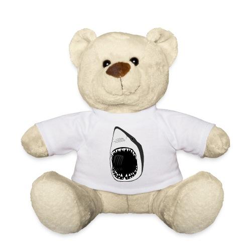 tier t-shirt teddy weisse hai wal shark jaws zähne monster tauchen taucher fisch - Teddy