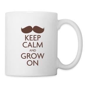 Keep Calm and Grow On — Movember - Mug