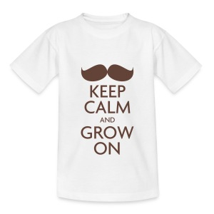 Keep Calm and Grow On — Movember - Kids' T-Shirt