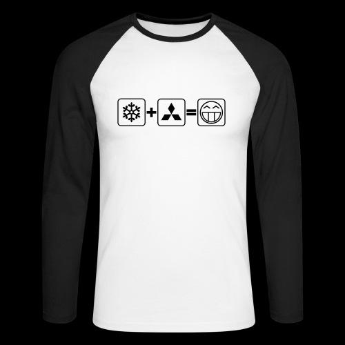 Winter+Mitsu=:D - schwarzer Druck - Männer Baseballshirt langarm