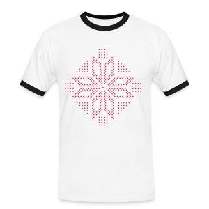 Selburose i piksler - Kontrast-T-skjorte for menn