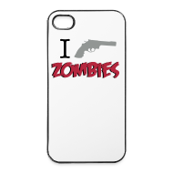 Carcasas para móviles y tablets ~ Carcasa iPhone 4/4s ~ Funda iPhone 4/4S - I Shoot zombies