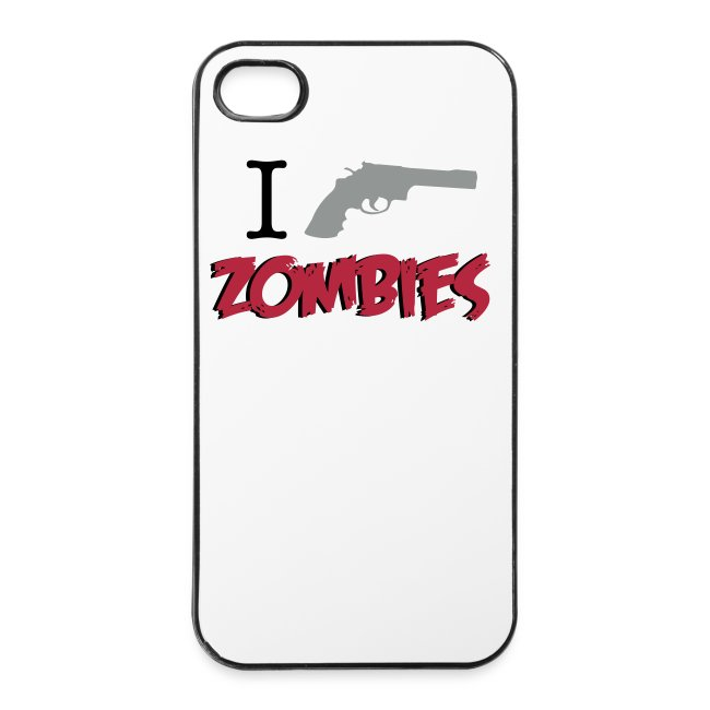 Funda iPhone 4/4S - I Shoot zombies