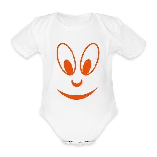 smile face - Baby Bio-Kurzarm-Body