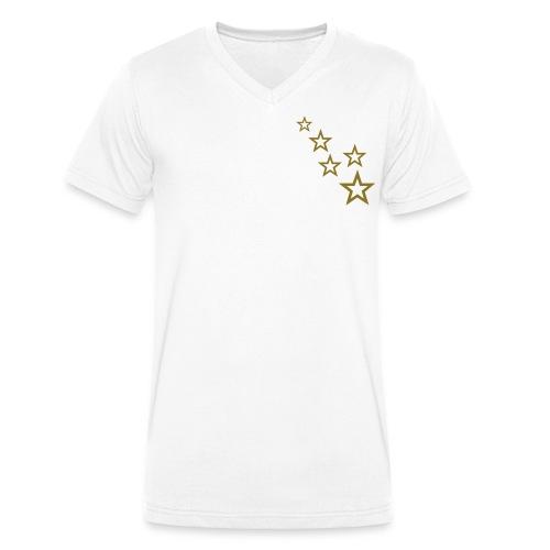 T-SHIRT - V-hals Stars - Mannen bio T-shirt met V-hals van Stanley & Stella