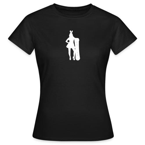 Ski kaninen - T-skjorte for kvinner