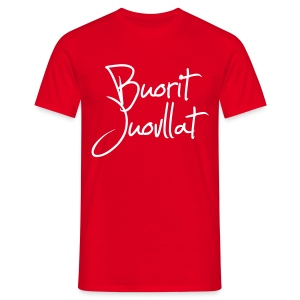 Buorit juovllat - T-skjorte for menn