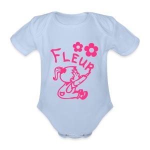 Fleur - Baby bio-rompertje met korte mouwen