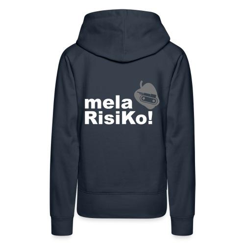 mela risiko (felpa donna) - Felpa con cappuccio premium da donna
