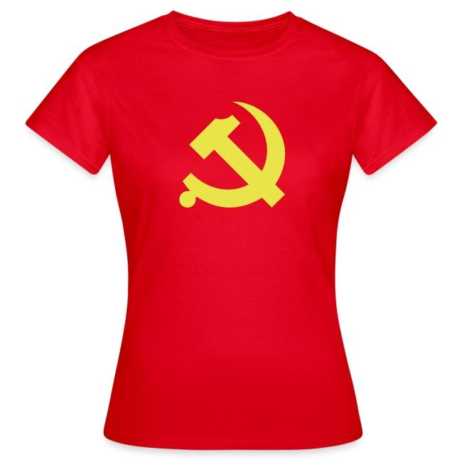 Chinese Hammer & Sickle Women's Tee Shirt