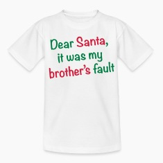 Dear Santa, it was my brother's fault