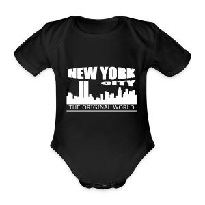 Body bébé new york city - Body bébé bio manches courtes