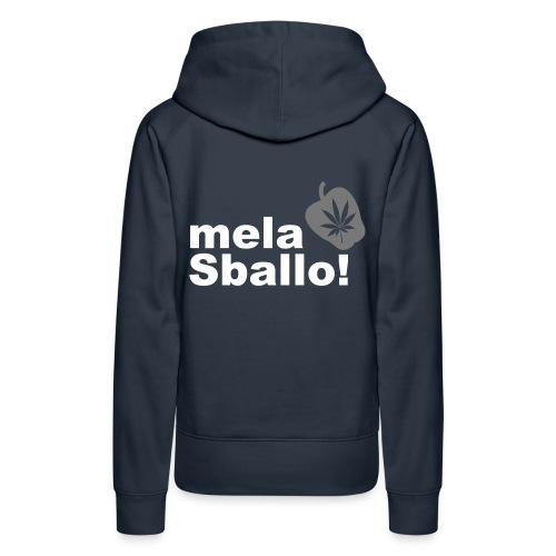 mela sballo (felpa donna) - Felpa con cappuccio premium da donna