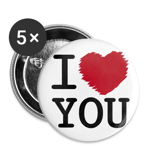 pinsse i love you - Badge petit 25 mm