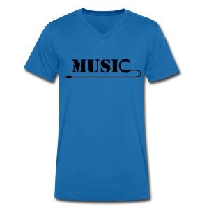 Music Lead T-Shirt - Men's Organic V-Neck T-Shirt by Stanley & Stella