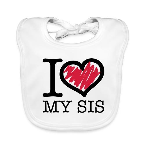 slabbertje love my sis - Bio-slabbetje voor baby's
