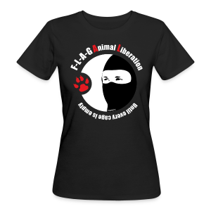 F-L-A-G Animal Liberation - Frauen Bio-T-Shirt