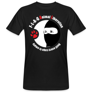 F-L-A-G Animal Liberation - Männer Bio-T-Shirt