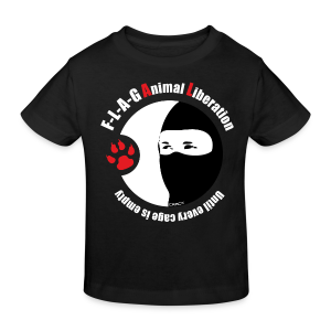 F-L-A-G Animal Liberation - Kinder Bio-T-Shirt