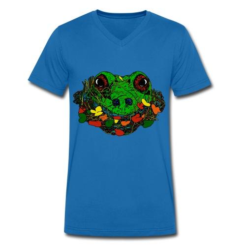 mannen T-shirt kikker - Mannen bio T-shirt met V-hals van Stanley & Stella