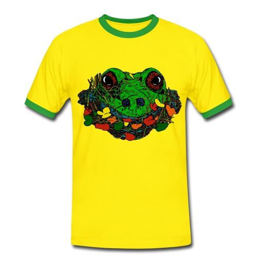 mannen T-shirt kikker - Mannen contrastshirt