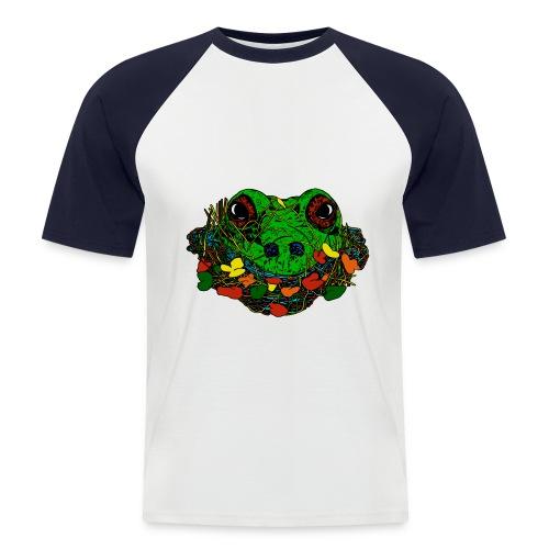 mannen T-shirt kikker - Mannen baseballshirt korte mouw