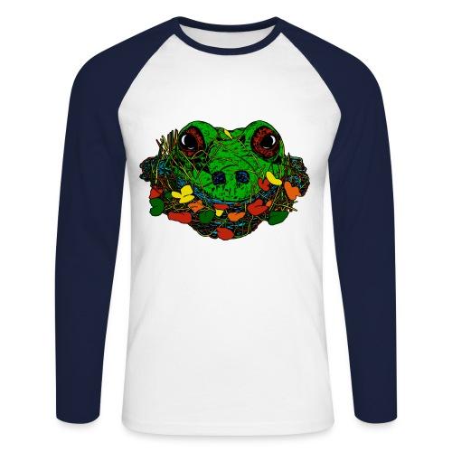 mannen shirt met kikker - Mannen baseballshirt lange mouw