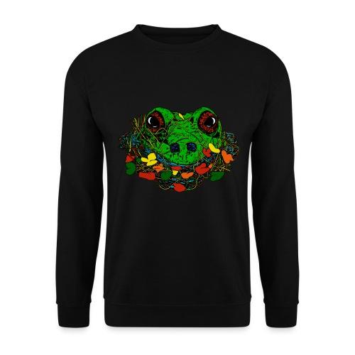 mannen sweater met capuchon met kikker - Mannen sweater