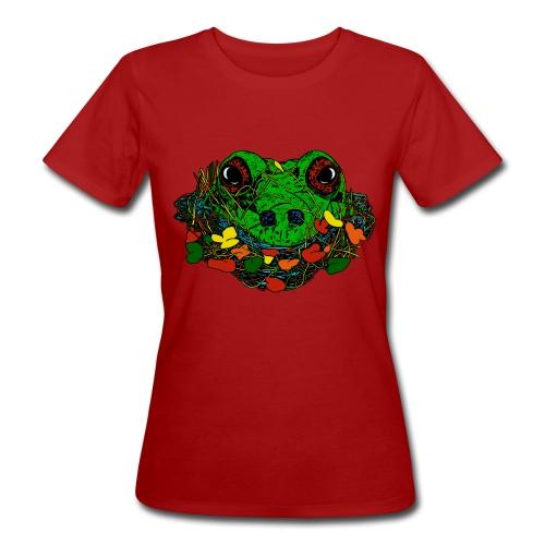vrouwen T-shirt met kikker - Vrouwen Bio-T-shirt