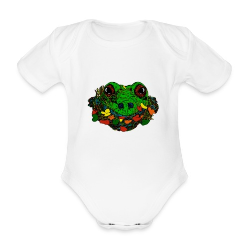 baby romper met kikker - Baby bio-rompertje met korte mouwen