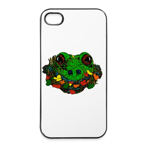 iPhone 4/4s case met kikker - iPhone 4/4s hard case