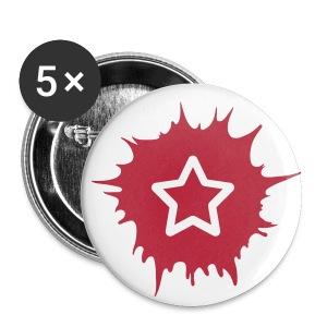 5er Pack Buttons SOZIALHELDEN - Buttons klein 25 mm