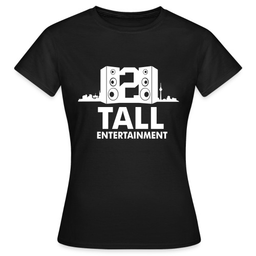 2 TALL Girly Top Schwarz - Frauen T-Shirt