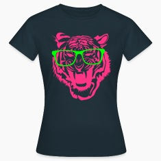 Tiger head nerd glasses Internet 2c T-Shirts