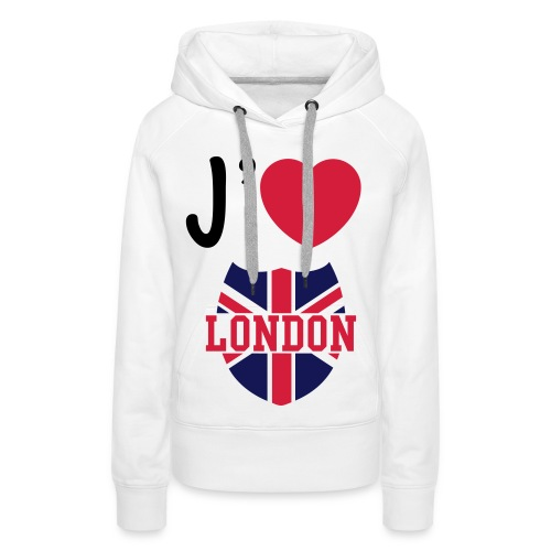 london - Sweat-shirt à capuche Premium pour femmes