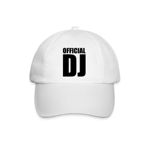 official dj white baseball cap - Baseball Cap