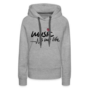 Music Is My Life Vest - Vrouwen Premium hoodie
