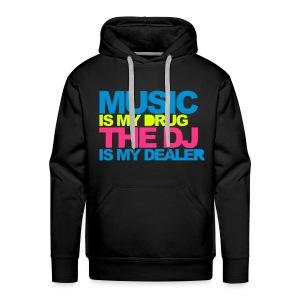 Music is my drug - Mannen Premium hoodie
