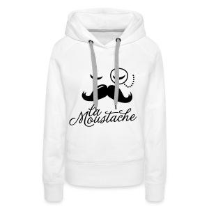 Mustache vrouwen vest - Vrouwen Premium hoodie