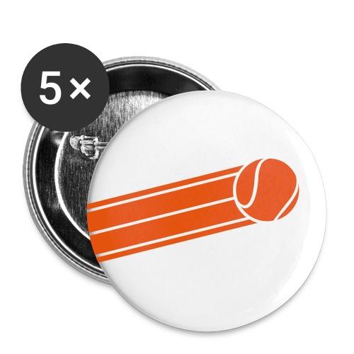 5pack små knappar25mm tennisboll - Små knappar 25 mm