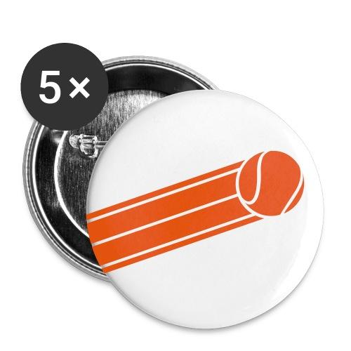 5pack stora knappar56mm tennisboll - Stora knappar 56 mm (5-pack)