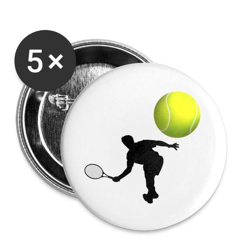5pack mellanstora knappar32mm tennis - Mellanstora knappar 32 mm