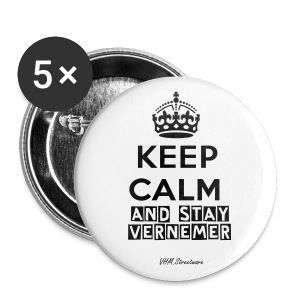 Keep Calm and stay VERNEMER Button - Buttons groß 56 mm