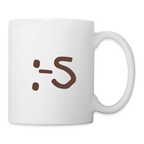 Mug Smiley Blurp  ! (marron) - Mug blanc