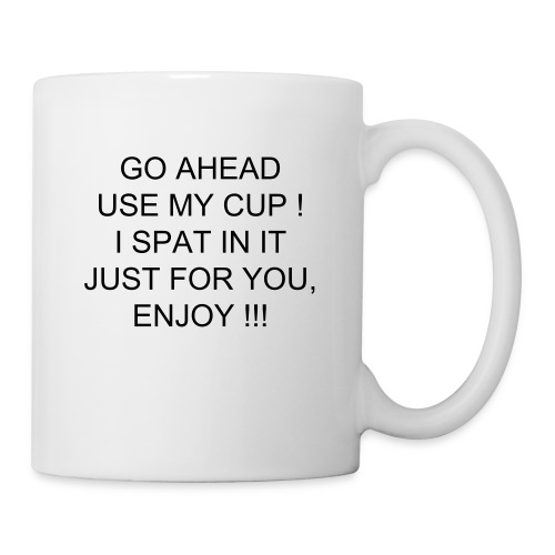 coffee  cup with spit joke  - Mug